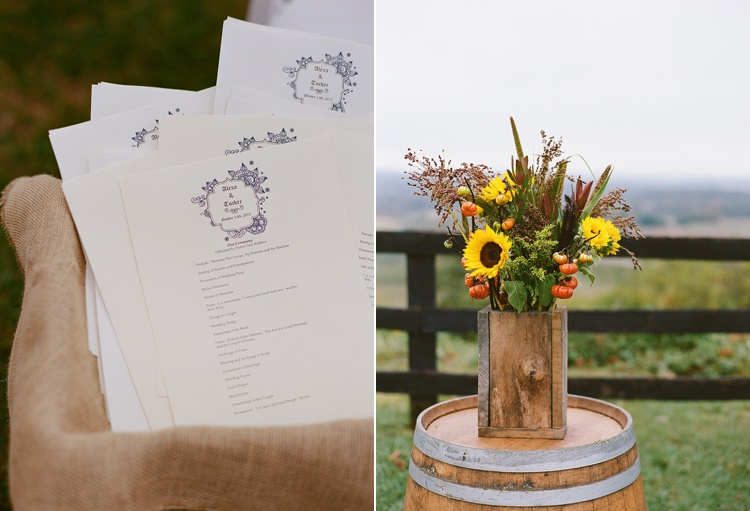 rustic DIY Virginia wedding details
