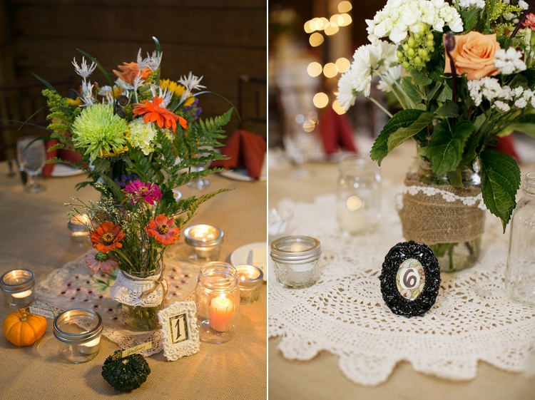 rustic personalized DIY centerpieces