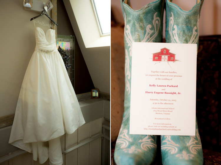 rustic barn wedding dress rain boot