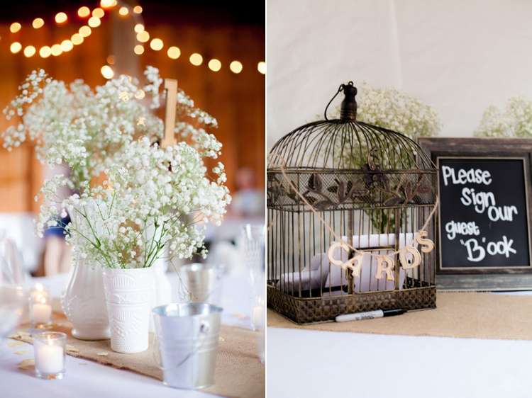 babys breath wedding centerpieces