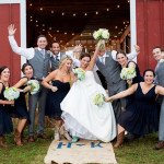 "Kelly & Harry's Rustic Meets Modern, ""Backyard Party"" Barn Wedding in Virginia"