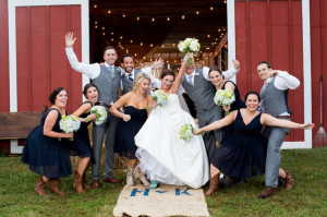fun virginia wedding portrait