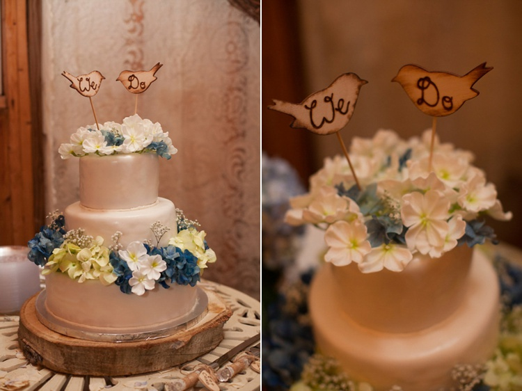 rustic wedding cake wood bird toppers