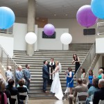 Marie & Alex's Modern's Katzen Arts Center DC Wedding Ceremony
