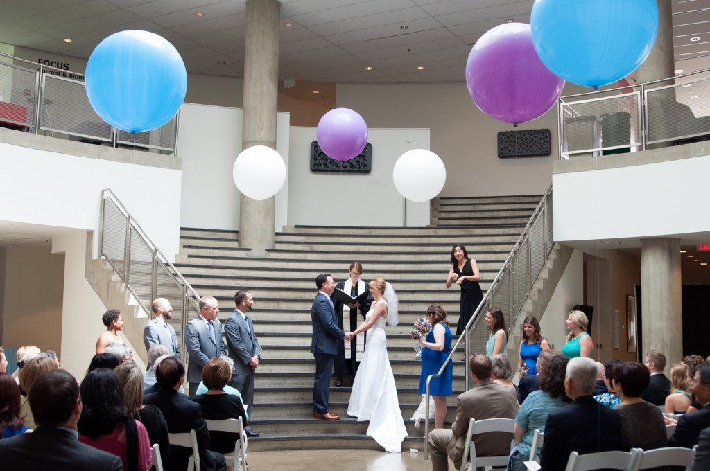 offbeat dc wedding ceremony katzen arts center