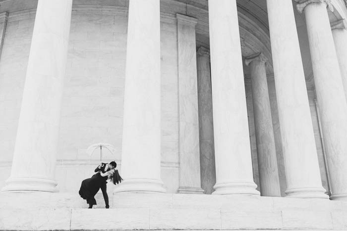 jefferson memorial dc engagement pictures