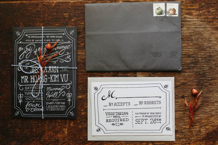 amazing whimsical handwritten wedding invite