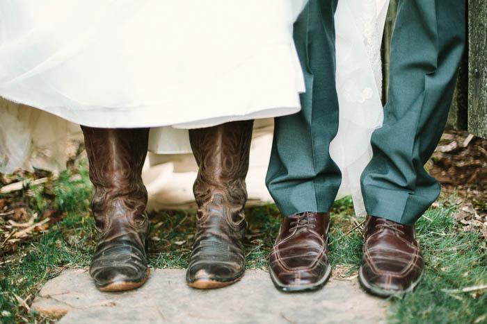 bride groom farm boots