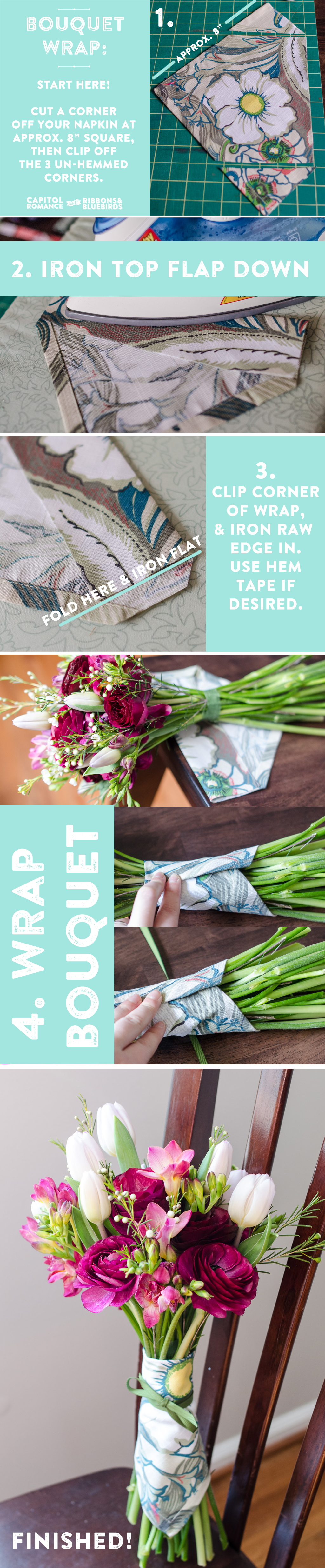 napkin_diy_bouquet wrap