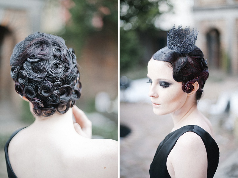 gothic bridal hairstyle