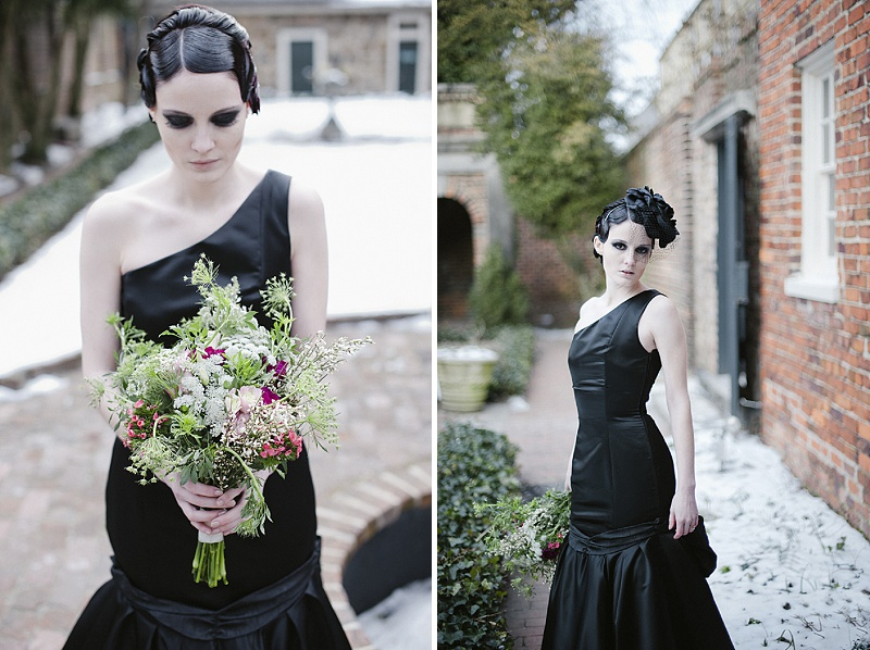gothic bridal fashion dress makeup