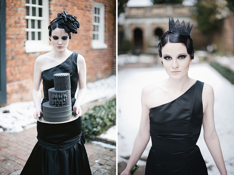 custom black wedding dress