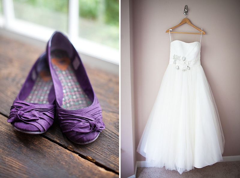 bride purple flats