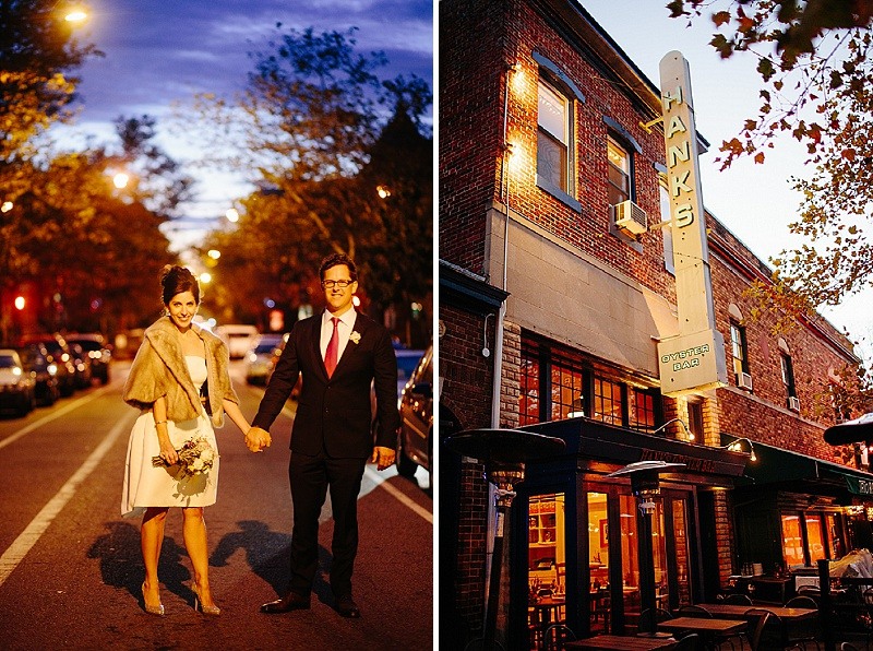 intimate modern Washington DC wedding at Hanks Oyster Bar