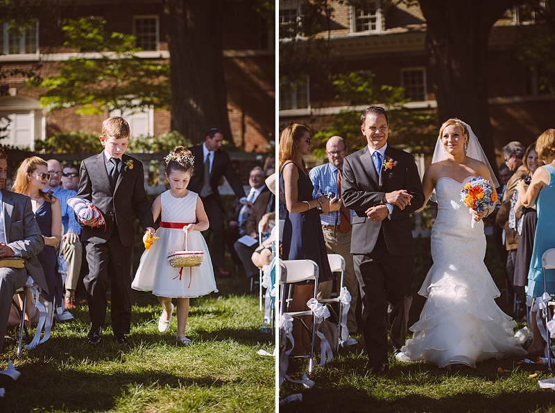 orange and blue northern virginia wedding