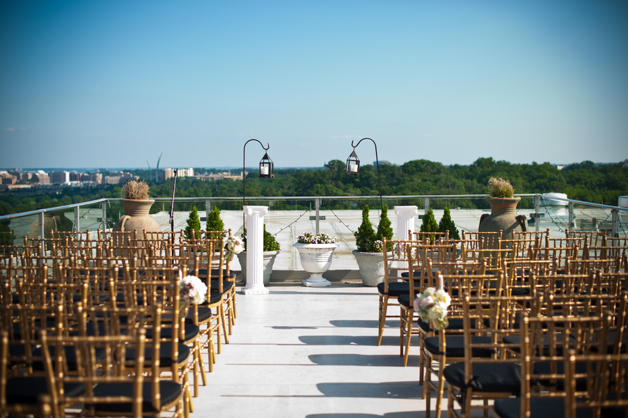 top of the town wedding ceremony DC