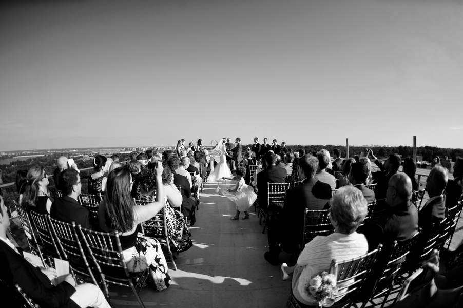 top of the town wedding ceremony