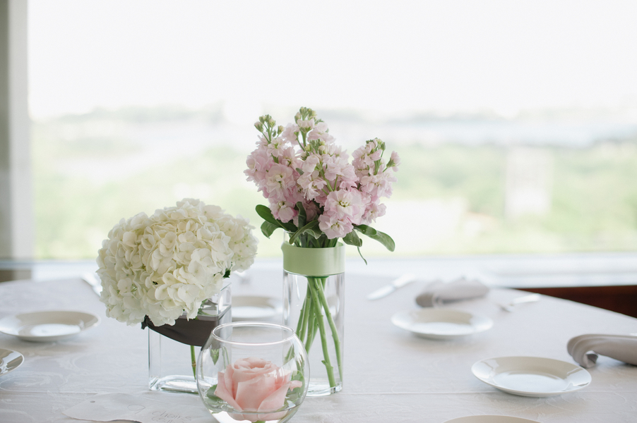 vintage spring wedding centerpieces