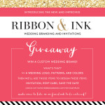 Giveaway: Custom Wedding Brand & Invitation Suite Design by Ribbon & Ink