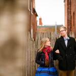 Cait & Bill's Chilly Washington, DC Engagement Pictures in Georgetown