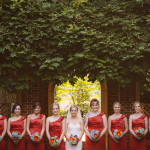 Helene & Josh's Orange & Blue Northern Virginia Wedding at Top of the Town