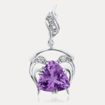 Hand Crafted, Conflict Free, Amethyst Silver Pendant Necklace Giveaway!