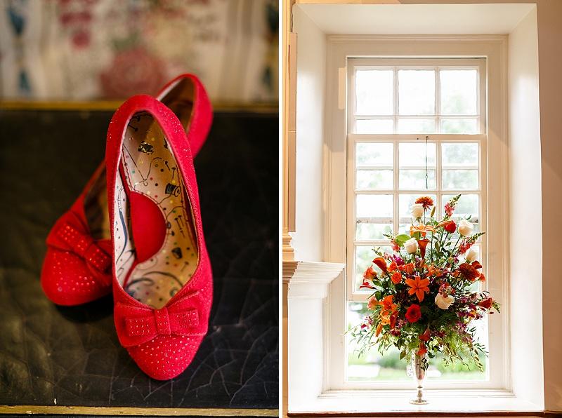 bride red heels