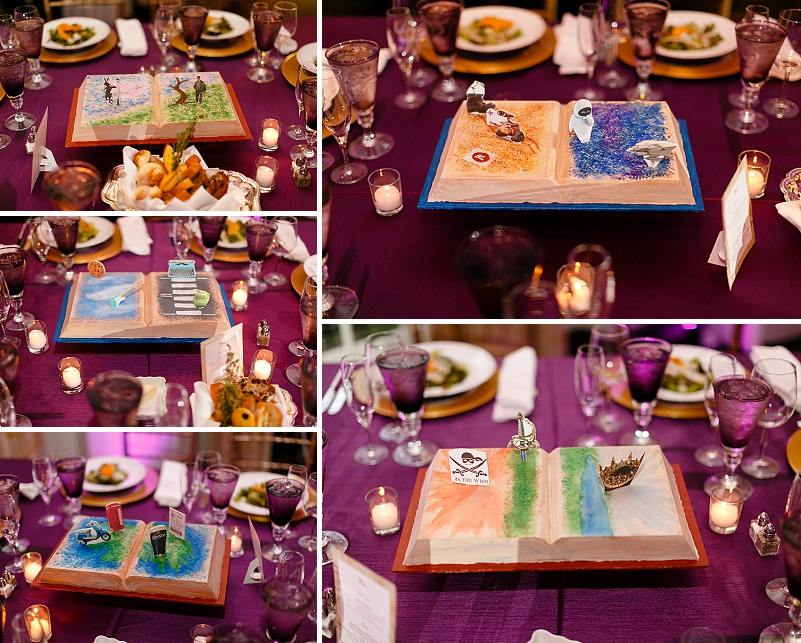 popup book centerpieces