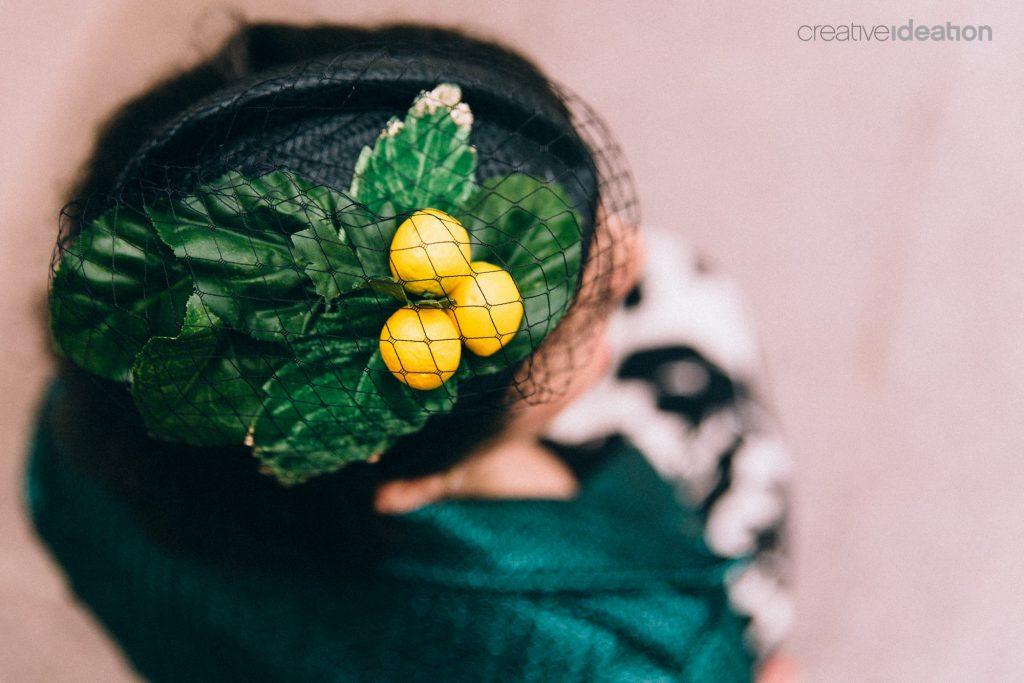 creative offbeat wedding hairpieces DC