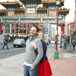 Michael & Marissa's Washington DC Engagement Pictures in Chinatown
