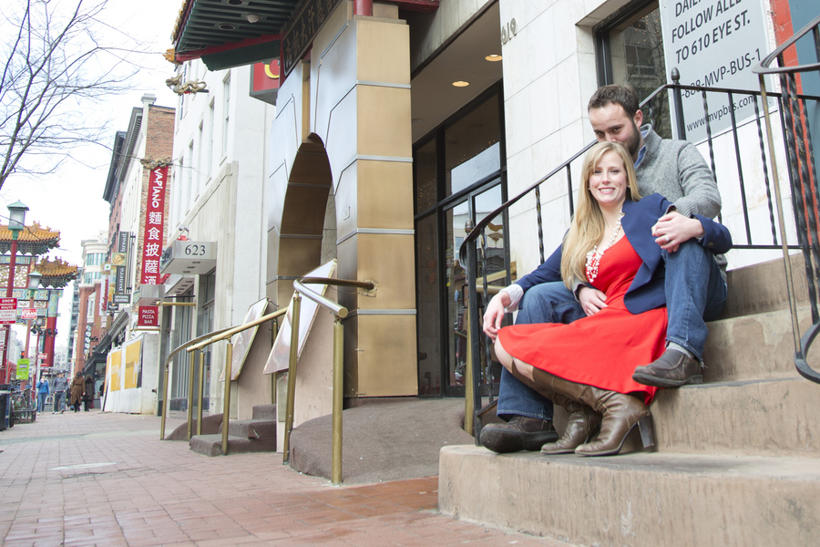 chinatown washington dc engagement pictures