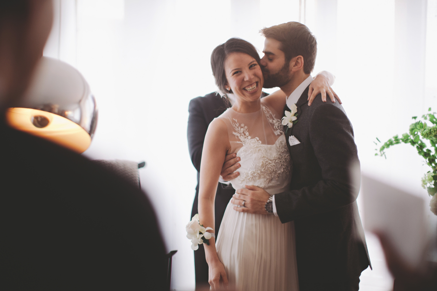 intimate modern DC wedding