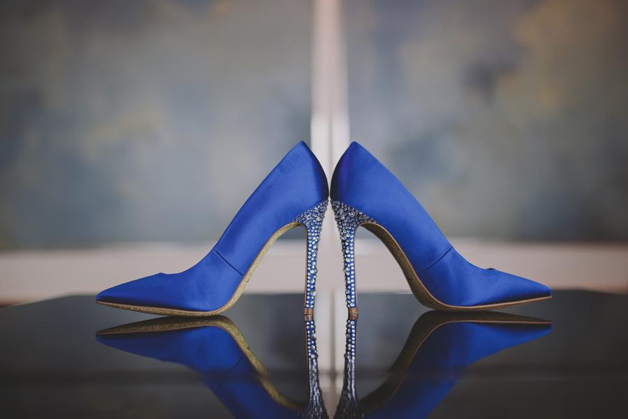 cobalt blue bridal heels