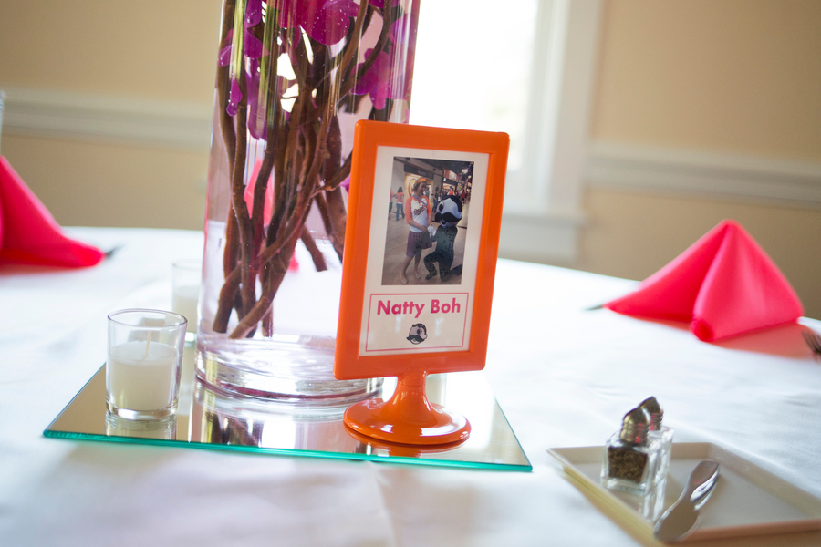 hot pink orange wedding tablescapes centerpieces