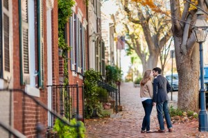 old town alexandria engagement pictures