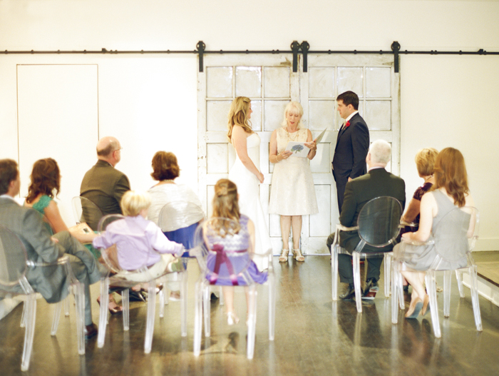 modern intimate DC wedding Fathom Gallery