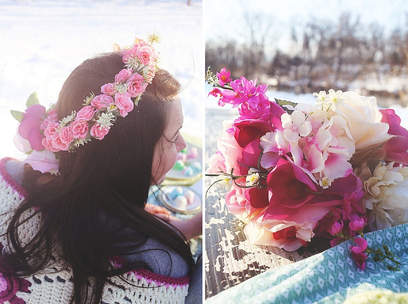 flower crown winter