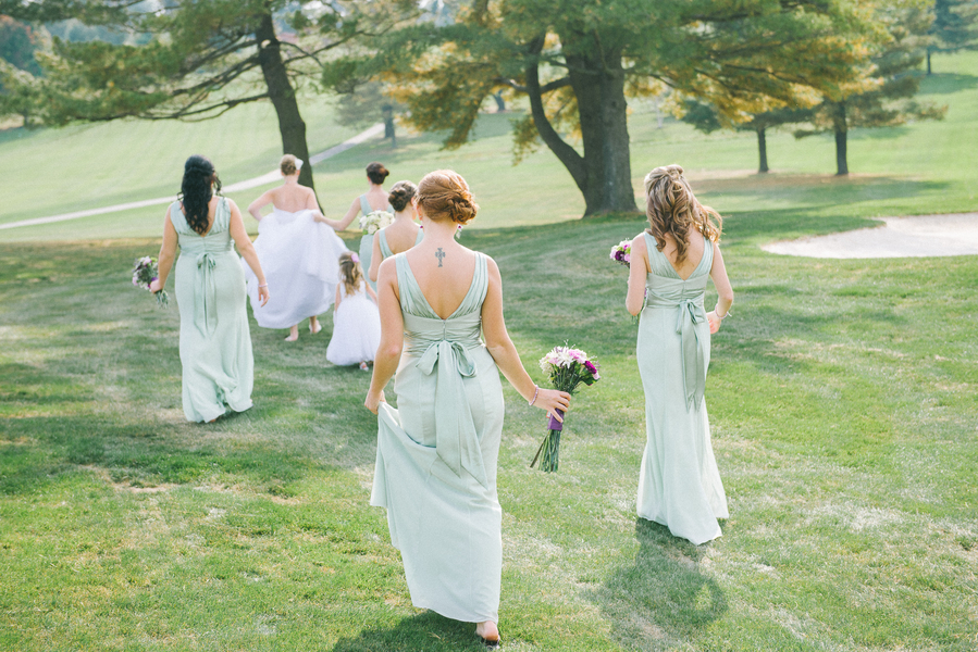 mint green bridesmaids dresses spring wedding