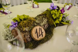 hand carved wood centerpieces