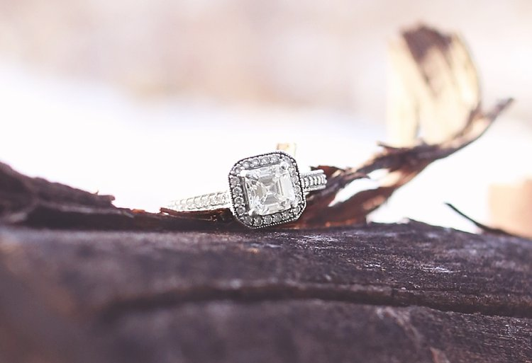 stunning vintage inspired engagement ring