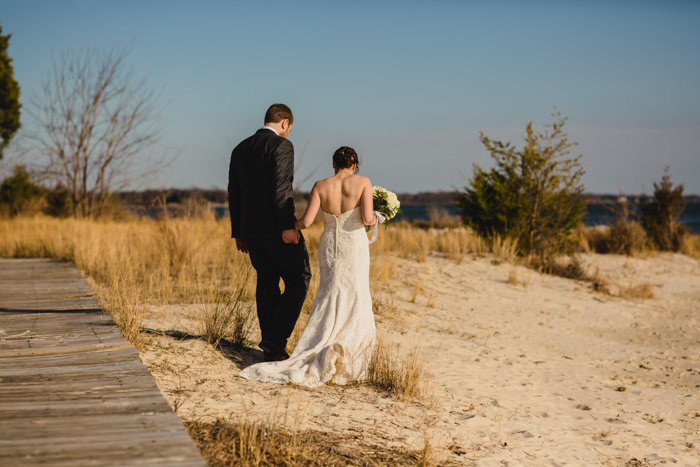 southern maryland beach wedding portraits