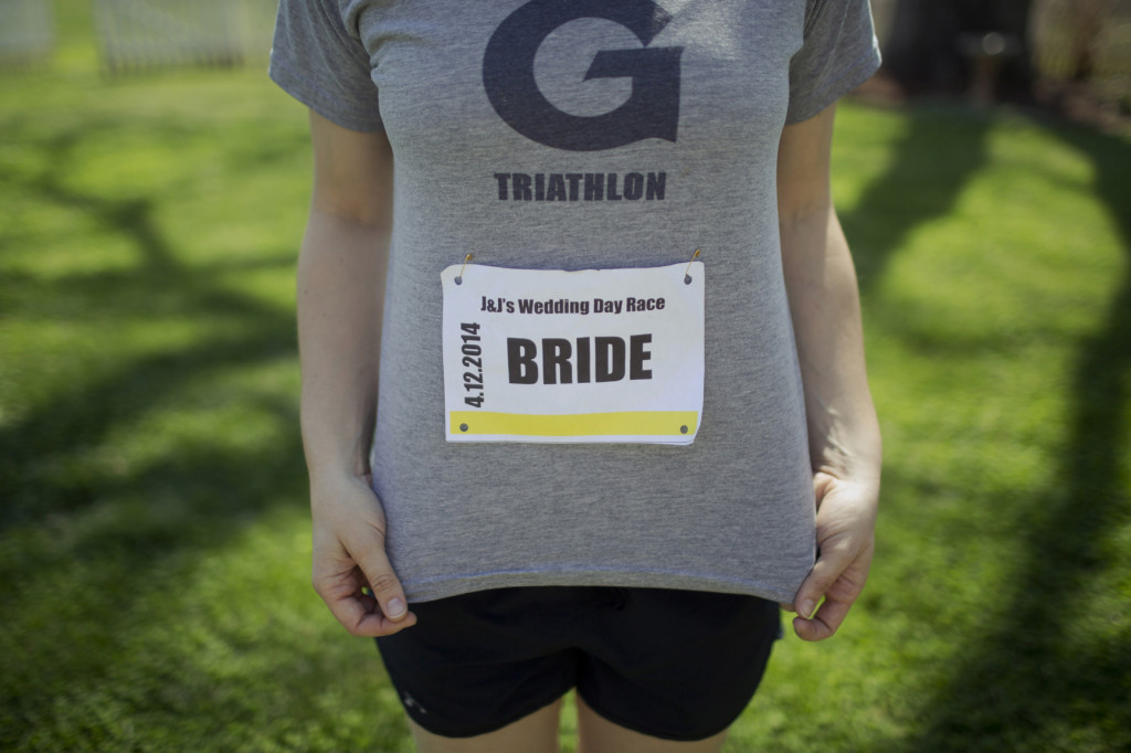 wedding race bib