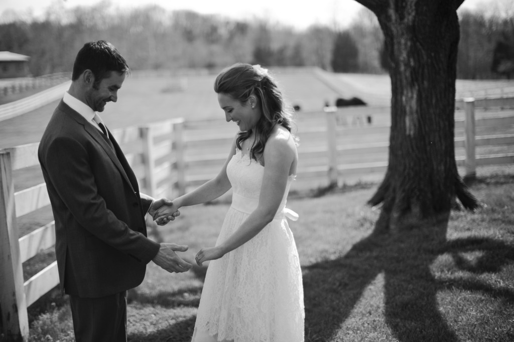 farm first look wedding