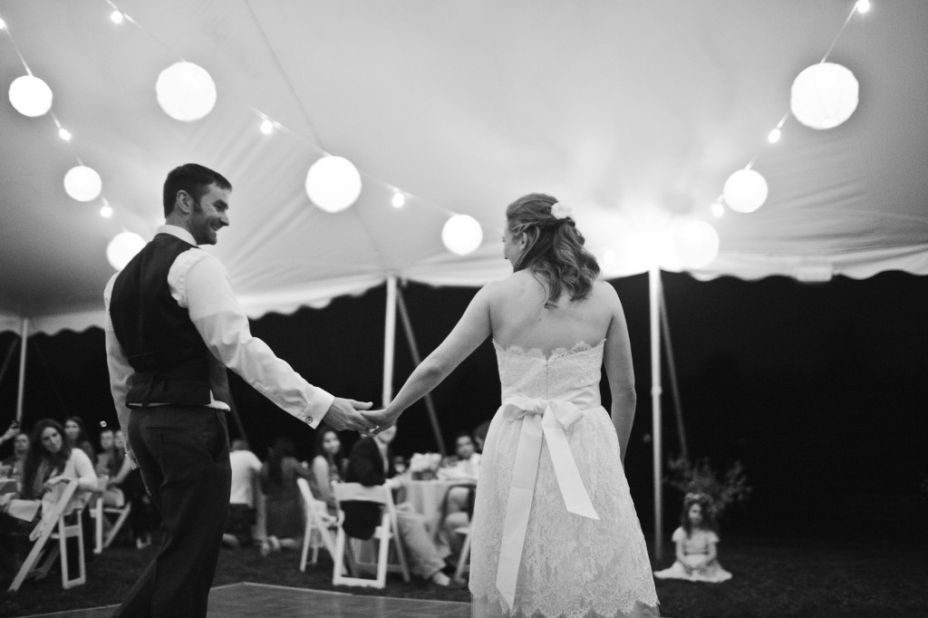 rustic casual backyard Virginia wedding