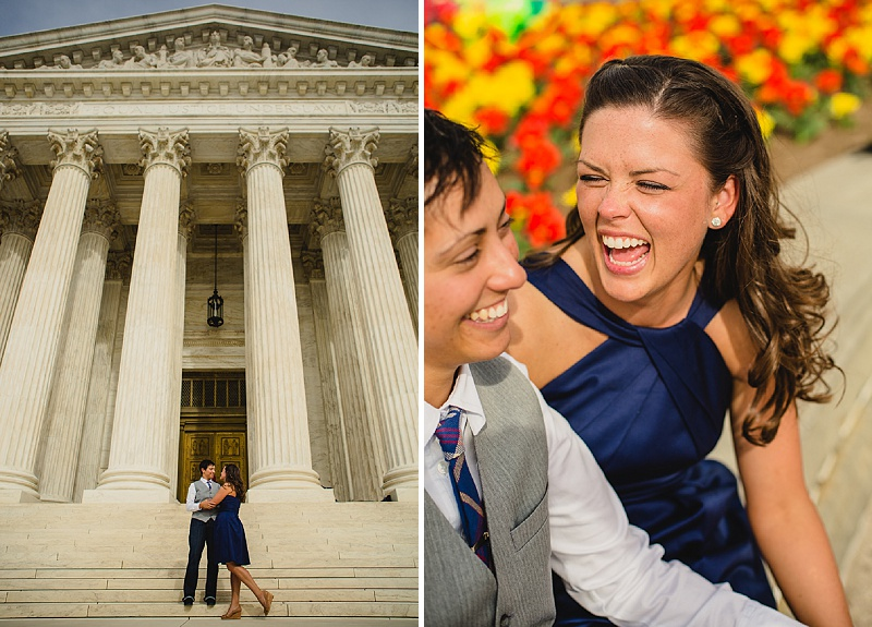 same sex wedding portraits Washington DC