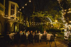 intimate dinner party wedding