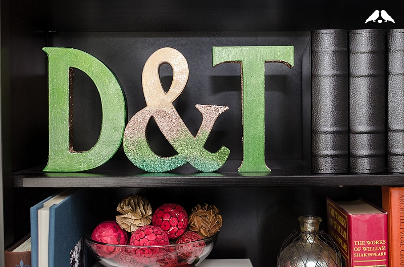 DIY Tutorial: How To Make Glitter Ombre Monogrammed Letters For Your Wedding