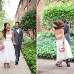 Marielba & Also's Modern, Intimate Purple Virginia Wedding on a Rooftop