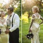Candace & Art's Black & Gold, Vintage Inspired Wedding in NY