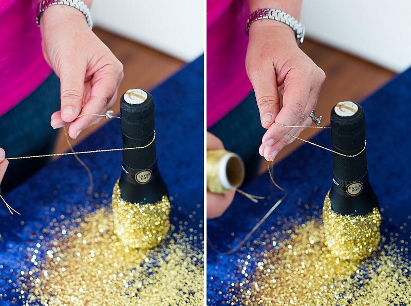 DIY glitter champagne favors (4)